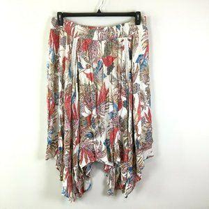 Spense Womens Boho High Low Handkerchief Hem Skirt